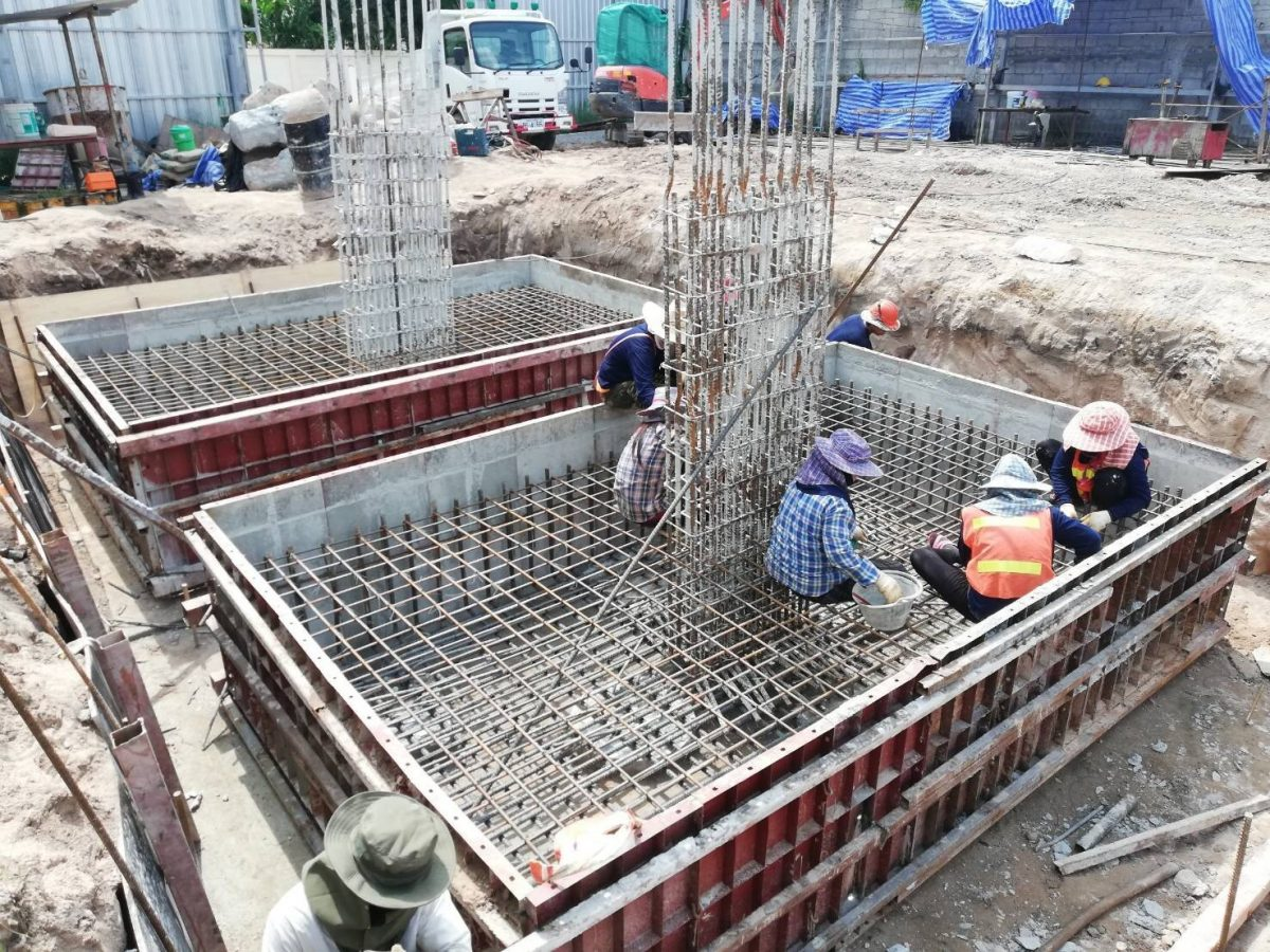Building Foundation Work Rising Asia